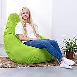 Hi-BagZ®, Sitzsack mit hoher Rückenlehne, für den Garten, Limettengrün, 100% wasserabweisend