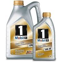 Mobil 1 151259 Motor Oil New Life 0W-40, 5 litri più 1 litro