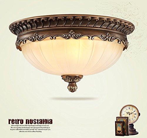 KJLARS Retro Rund Deckenlampe Wohnzimmer Deckenleuchte Küche Deckenbeleuchtung Schlafzimmer Vintage...
