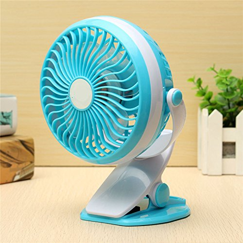 Easypro Rechargeable Mini Portable Air Cooling USB Clip Fan