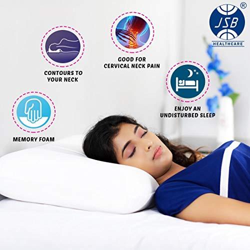 "JSB MF008 Memory Foam Pillow for Sleeping Comfort King Size (24"" X 15"" X 5"")"