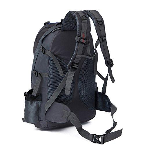 GWELL 50L Wasserdicht Wandern Klettern Rucksack Outdoor Sport Reisen Backpack Blau