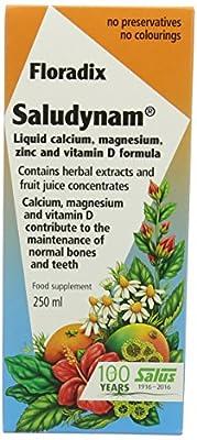 Floradix Saludynam Liquid Calcium/ Magnesium/ Zinc and Vitamin D Formula 250ml