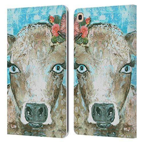 Head Case Designs Offizielle Amanda Hilburn Blossom Die Kuh Tiere Leder Brieftaschen Huelle kompatibel mit Galaxy Tab A 8.0 & S Pen 2019 -