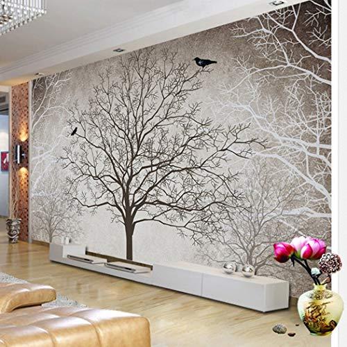 BHXINGMU Individuelle Tapeten Wanddekorationen Zweige Und Vögel Raumdekoration Für Kinder Und Kinder 150Cm(H)×200Cm(W)