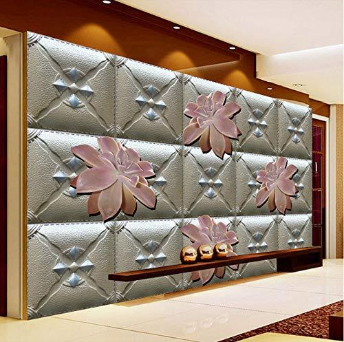 ber Tapete Dekorationen Wandbilder Wand Karierte Blume Softpack Hintergrund Dekoration Kunst Kinder Zimmer (W) 250x(H) 175cm ()