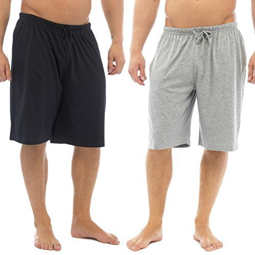 Hombre Pack Doble Pantalones De Estar Por Casa Jersey Elástico Noche De Sueño Ropa Pijamas pantalones