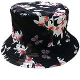 ACVIP Unisex Fischerhut Outdoor Wild Bucket Hat Causal Schlapphut für Herren Damen(Blumen-Schmetterling)