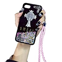 Zhaolian888 Personalised Name iPhone Cover Case Sparkle Bling Glitter Quicksand Pattern for iphone 6/6S/6 plus/6S plus/7/7 plus - Custom Your Name on The Back