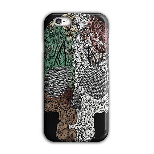 Schädel Modisch Cool Mode Skelett Kunst iPhone 6 / 6S Hülle | (Prinzessin Kostüme Skelett)