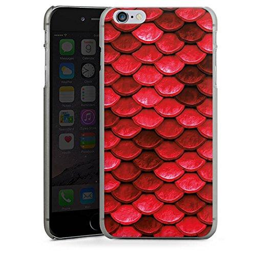 Apple iPhone 5c Silikon Hülle Case Schutzhülle Rote Schuppen Drache Muster Hard Case anthrazit-klar