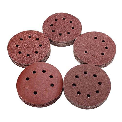 Cutogain 100Körnung Runde Form Polieren Polieren Pad Tabelle 12,7cm 125mm 8Loch Schleifpapier