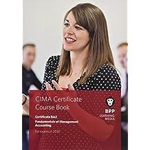 CIMA BA2 Fundamentals of Management Accounting: Coursebook