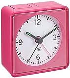 Analoger Lautlos-Wecker TFA 60.1013 Push Sweep-Uhrwerk ohne Ticken (Pink, mit Batterie)
