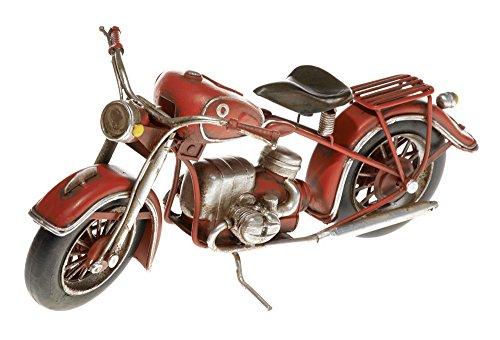 Pamer-Toys Modellino Moto di Latta – in Stile Antico-Retro-Vintage - Misure ca. 27 x 13 x 11 cm (Moto Rosso)