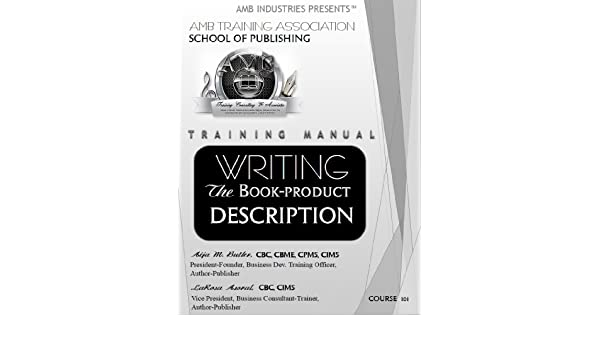 training manual writing the book product description amb training