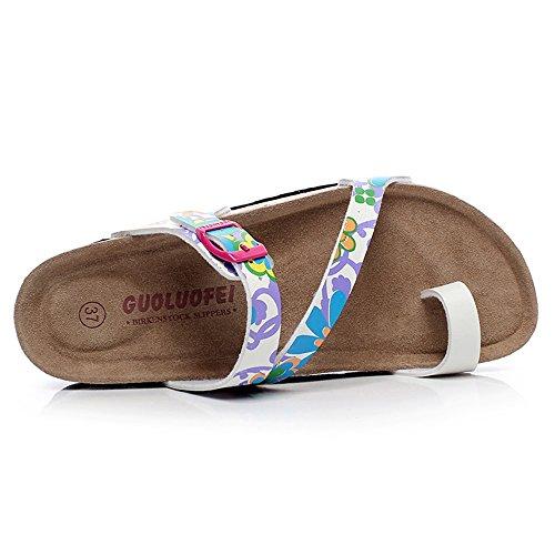 TONGS SANDALES Chaussures de chaussures en liège en forme d'été Chaussures de plage décontractées pour femmes avec 5 couleurs élégant #1