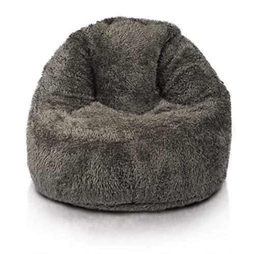 Glamour Shaggy Sessel Sitzsack Bezug,aus Künstlichem Pelz, Perfekte Passform für Country...