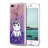 Mosoris Coque iPhone 8 Glitter Liquide Cover Mode 3D TPU Etui Licorne iPhone 7...