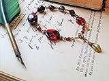 Bracelet réglable bronze en Grenat d'excellente qualité, hématite et en cristal Tchèque par Angel'S SignS