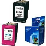 Remanufacturados reemplazo para HP 301XL Cartuchos de Tinta para Impresoras HP DeskJet 1000, 1050, 1050A, 1050S, 2000, 2050, 2050A, 2050S, 2050se, 2054A, 3010, 3050, 3050A, 3050S, 3050se, 3050ve, 3052A, 3054A All-in-One