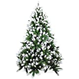 Künstlicher Weihnachtsbaum 180cm in Premium Spritzguss Qualität, angeschneite Douglastanne, Tannenbaum mit PE Kunststoff Nadeln, Douglasie Christbaum im beschneit Design