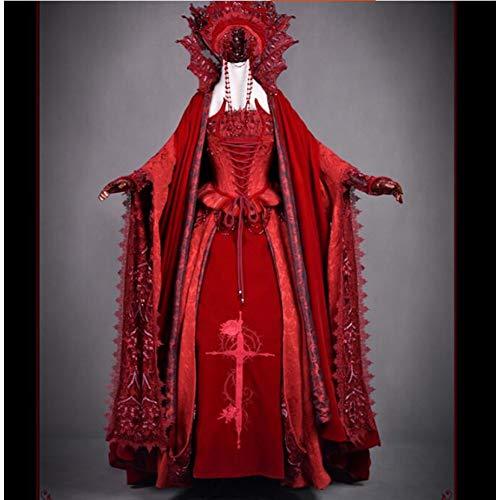 id Vampir Brautkleid Frau Lolita Kleid Full Set Halloween Kostüm Geschenk Nach Maß/Größe ()
