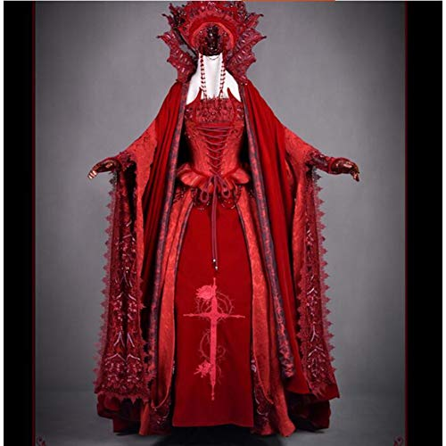 QAQBDBCKL Lolita Kleid Vampir Brautkleid Frau Lolita Kleid Full Set Halloween Kostüm Geschenk Nach Maß/Größe (Frau Vampir Kostüm)