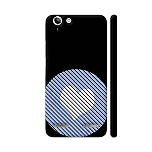 Colorpur Lenovo Vibe K5 / K5 Plus Cover - Striped Heart Light Blue Printed Back Case