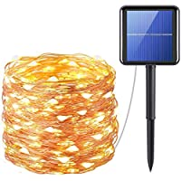 Solar String Lights, ShowTop 200 LED Fairy Lights 8 Modes 3-Strands Copper Wire 20 Meters Waterproof IP65 Solar String Lights Outdoor Indoor Patio Garden Christmas Decorative Warm White