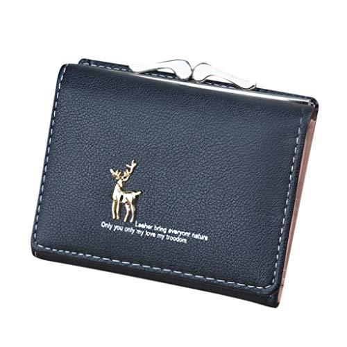 se Pouch Bag für Kreditkarte, ID-Karte, Schlüssel, Headset, Lippenstift Mini Damen Geldbörsen Kurze Einfache Mini-Geldbörse Kartenhalter Tasche ()