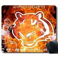 Cincinnati Bengals marchio della squadra T54X0Y Mouse Pad / tappetino per mouse, Bella Tappetino mouse