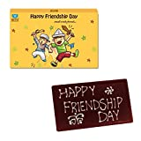 #10: PERSONALIZED FRIENDSHIP DAY CHOCOLATE BAR, FRIENDSHIP DAY CHOCOLATE GIFT, FRIENDSHIP DAY RETURN GIFT, DARK CHOCOLATE, FRIENDSHIP DAY GIFTS, 1 PIECE