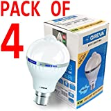 6W OREVA COOL WHITE LED BULB LAMP WITH SENSOR AUTO ON-OFF B22D (Pack Of 4)