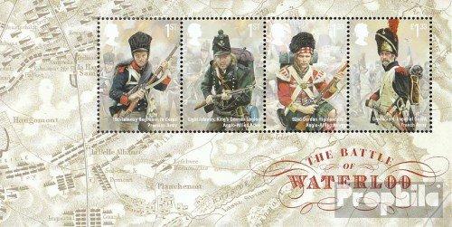Großbritannien Block93 (kompl.Ausg.) 2015 Schlacht um Waterloo (Briefmarken für Sammler) Uniformen / (Großbritannien Tracht Von)