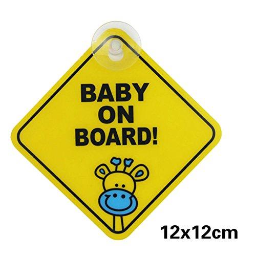AchidistviQ Baby an Bord Auto Warn Sicherheit Saugnapf Aufkleber wasserdicht Anzeigetafel XP01 (Schild Baby-elektronisches)
