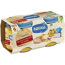 Nestlé Selección puré de verduras y carne, variedad Verduritas de la Huerta con Cordero -