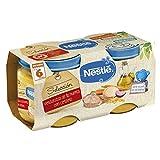 Nestlé Selección puré de verduras y carne, variedad Verduritas de la Huerta con Cordero - Para bebés a partir de 6 meses - Paquete de 5x2 Tarritos de 200g
