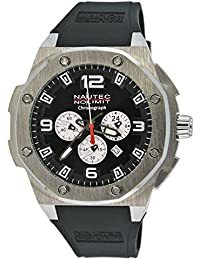 Nautec No Limit Herren-Armbanduhr XL Sailfish Analog Quarz Kautschuk SF QZ/RBSTSTBK