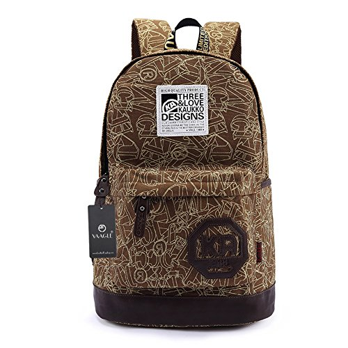 YAAGLE Neu Hit Farbe Rucksack koreanisch Schüler Schultasche Reisetasche Laptoptasche Schultertasche-khaki khaki