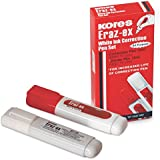 Kores Eraz-ex White Ink Pen - 7 ml with Metal Tip, Pack of 20 pens