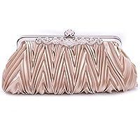 Spritech (TM) sera, da donna, Vintage, a forma di busta, per Cocktail Party Bags-Borsa a tracolla, borsa a tracolla, colore: bianco, champagne, taglia unica