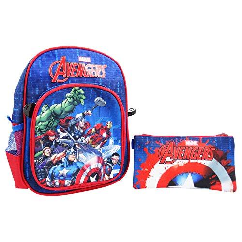 DC Comics The Avengers Rucksack + Federmappe 1 Reißverschluss für den Kindergarten Freizeit