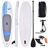 COSTWAY Tablas Paddle Board Hinchables Remo Surf Tablero Sup Board Stand Up Set 305 * 76 * 15CM Inflable Blanco