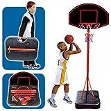 Generic YCUK2_150817_42<1&4563*1> RY CASEANDING BASK de pie para niños de canasta de baloncesto portátil tamaño grande incluye juego de aro de pelota de tamaño grande PORTA funda de transporte