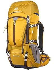Eshow Trekkingrucksäcke Wanderrucksäcke Reiserucksack für Reisen Wandern und Bergsteigen Wasserdicht Ultraleicht 50L mit Regenhülle