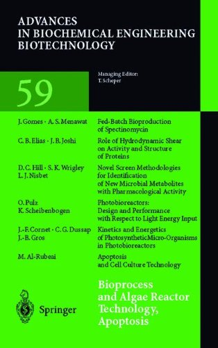 Bioprocess and Algae Reactor Technology, Apoptosis: Volume 59 (Advances in Biochemical Engineering/Biotechnology)