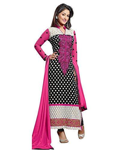 Pahal Fashion Women's Georgette Dress Materials