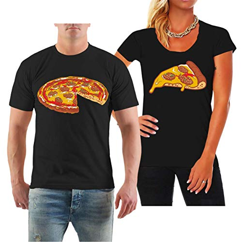Spaß kostet Partnershirt Mann & Frau Familien Outfit Pizza Größe S - 8XL