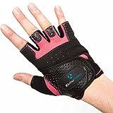 Fitnesshandschuhe »Aphrodite« / Damen Trainingshandschuhe für Workout Gewichtheben Bodybuilding schwarz/pink S - 2